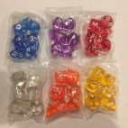 TI Set of 6 Transparent Dice - DiceEmporium.com