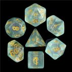 Blue Iridescent Dice Set - DiceEmporium.com