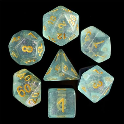 Blue-Iridecent-Dice-Set