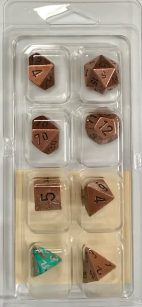 Metal Copper 7 Die Set - DiceEmporium.com