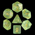 Green Iridescent Dice Set - DiceEmporium.com
