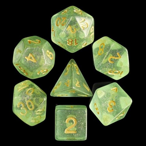 Green-Iridecent-Dice-Set