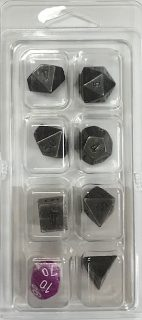 Metal Dark Metal 7 Die Set - DiceEmporium.com