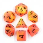 Red Yellow Glow In The Dark Dice Set - DiceEmporium.com