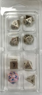 Metal-Silver-7-Die-Set