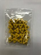 Yellow Opaque d8 HD Set of 20 Dice - 8 Sided - DiceEmporium.com