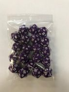 Purple Opaque d20 HD Set of 20 Dice - 20 Sided - DiceEmporium.com