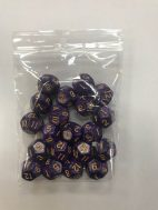 Purple Gold Pearl d12 HD Sets of 20 Dice - 12 Sided - DiceEmporium.com
