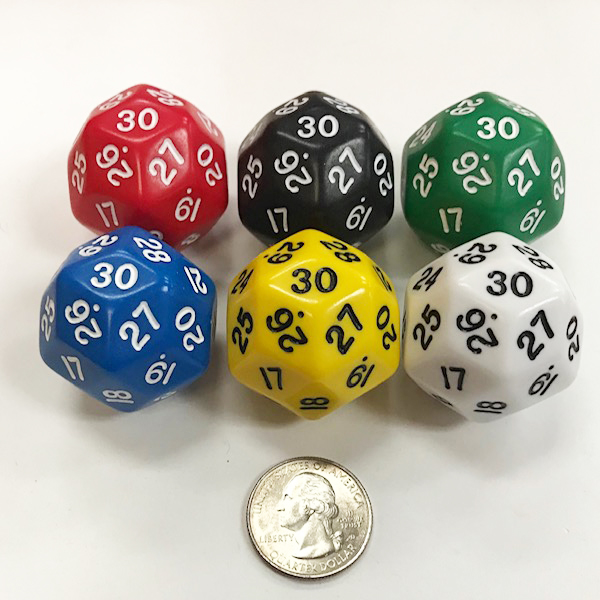 30 Sided Dice - DiceEmporium.com