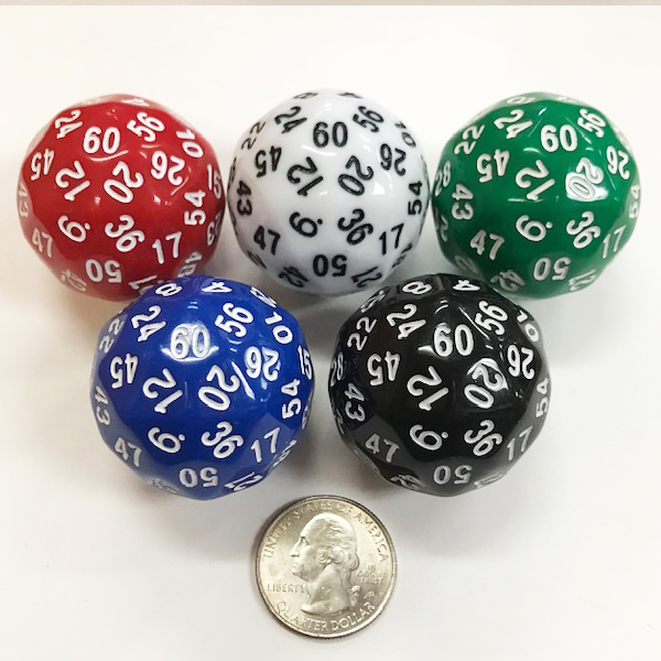 60 Sided Dice - DiceEmporium.com