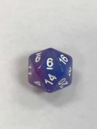 Blue Purple Galaxy 20 Sided Dice - DiceEmpori