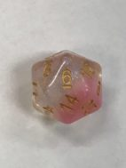 Cherry Blossum 20 Sided Dice - DiceEmporium.com