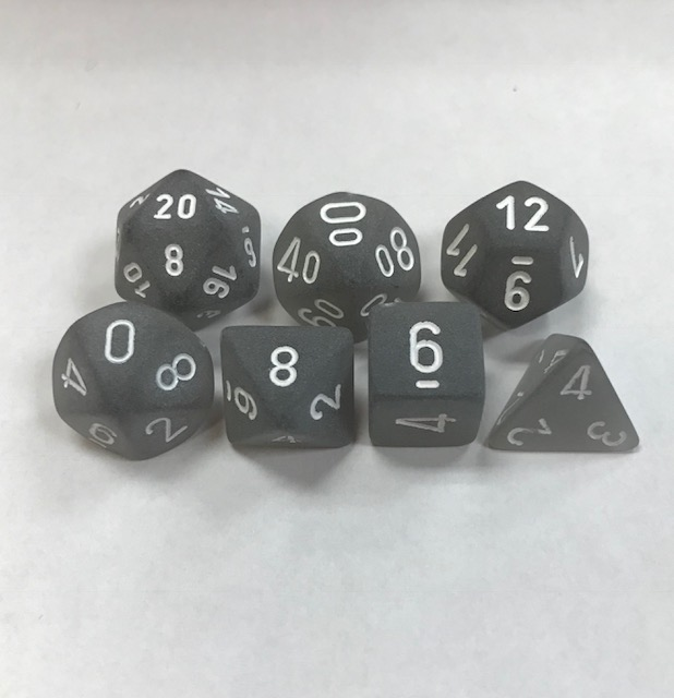 Chessex Signature ~ Frosted Dice
