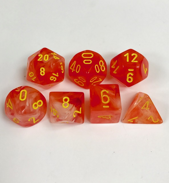 Chessex Signature ~ Ghostly Glow Dice - DiceEmporium.com