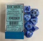 Snow Blue/black 7 Die Set - DiceEmporium.com