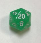 20 Sided Green Aurora Borealis Dice - DiceEmporium.com