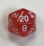 20 Sided Red Aurora Borealis Dice - DiceEmporium.com