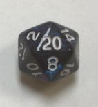 20 Sided Night Sky Aurora Borealis Dice - DiceEmporium.com