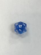 Nebula Blue 20 Sided Dice - DiceEmporium.com