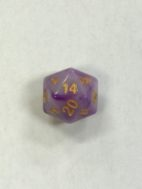 Purple Jade 20 Sided Dice - DiceEmporium.com