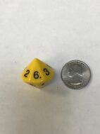 Yellow D14 1-7 Twice - DiceEmporium.com