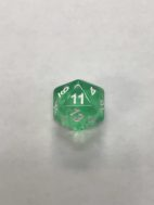 Nebula Green 20 Sided Dice - DiceEmporium.com