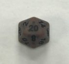 Copper Ancient 20 Sided Dice - DiceEmporium.com