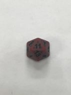 Red Ancient 20 Sided Dice - DiceEmporium.com