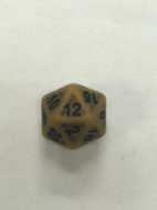 Gold Ancient 20 Sided Dice - DiceEmporium.com