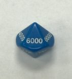 16mm Blue Thousands Place Value Dice - DiceEmporium.com