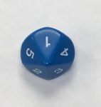 Blue D10 1-5 Twice - DiceEmporium.com