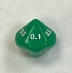 Green Tenths 16mm 10 Sided Decimal Dice - DiceEmporium.com