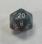 20 Sided Bloodstone HD Dice - DiceEmporium.com