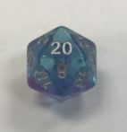 20 Sided Aquarium Ribbon HD Dice - DiceEmporium.com