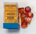 Gemini Translucent Red-Yellow/gold Chessex