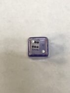 Purple Outer White Inner Die in Die - DiceEmporium.com