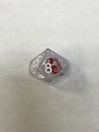 Clear 10 Sided Die in Die - DiceEmporium.com