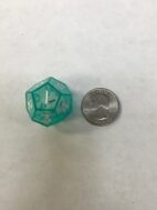 Green 12 Sided Die in Die - DiceEmporium.com