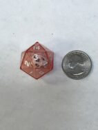 Red 20 Sided Die in Die - DiceEmporium.com