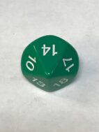 Green 10 Sided Numbers 10-19 - DiceEmporium.com