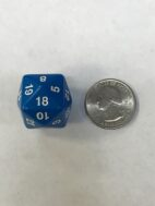 Blue 24 Sided Numbers 1-24 - DiceEmporium.com