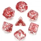 Red Fragment Filled Dice - DiceEmporium.com
