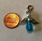 Aqua Blue Angel Charm