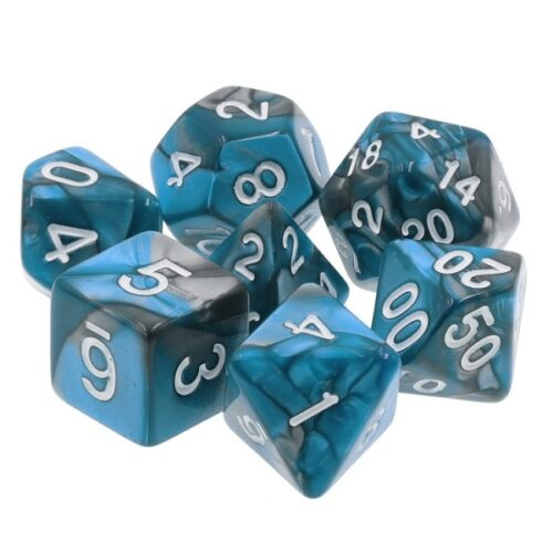 Blue Steel 7 Die Set - DiceEmporium.com