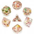 Colorful Fragment Filled Dice - DiceEmporium.com