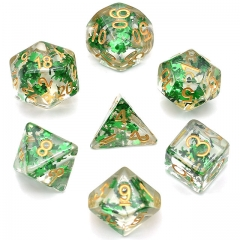 Green Fragment Filled Dice - DiceEmporium.com