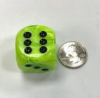 Vortex 30mm Bright Green/black - DiceEmporium.com