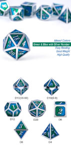 Earth 7 Piece Metal & Enamel Dice Set - DiceEmporium.com