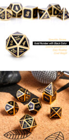 Galaxy 7 Piece Metal & Enamel Dice Set - DiceEmporium.com
