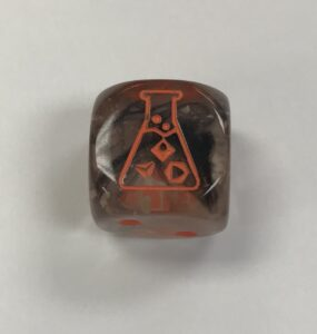 Nebula Copper-Matrix/orange Lab dice - DiceEmporium.com